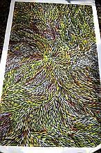 Jeannie Pitjara Petyarre acrylic on linen, 'Wild