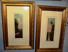 Pair of early Australian oil paintings on board,
