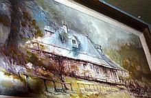 Aubrey Eden Stapleton oil on board, 'Old homestead