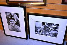Tom Bianchi, 2 black & white photographs each of