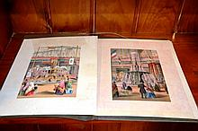 Set of 8 antique hand coloured engravings from the
