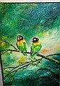 Hendra Surjadi oil on canvas 'Lovebird', signed