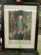 [After Freislherm] Comte d' Estaing, aquatint