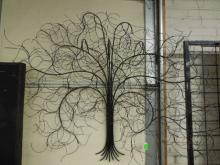 Pr Tree Wall Wire Sculptures