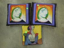 (3) Picasso Pillows