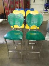 Set of 6 Modern Style Bar Stools