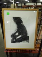 Gordon (?) Hass, charcoal, Female Nude