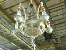Chandelier, Silvered Spelter Metal