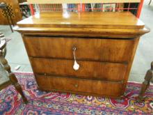 Antique Biedermeier Three Drawer Chest