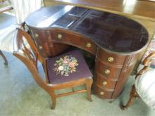 Kidney Shaped Desk & Chair