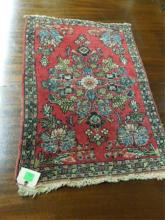 Antique Sarouk Throw Rug