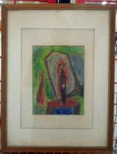 Leo Russell, crayon, Abstract