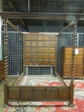 Jacobean style canopy bed