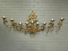 Mid Century Gilt Metal Wall Sconce