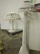 Arts & Crafts Wicker Floor & Table Lamp