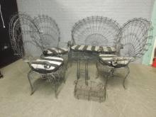 6 Pc. Vict Style Peacock Back Patio Set
