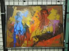 Roy Steinberg, o/c, Figural Abstract