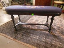 Wm & Mary Style Fireside Bench