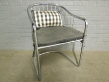 MCM Chrome Accent Wire Chair