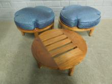 Mid-Century Modern Stackable Footstools