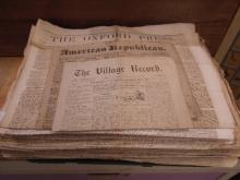 Lot 19th C Newspapers