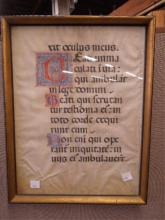 Medieval Chant Book Illuminated Ms. Page