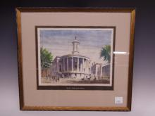 Signed Watercolor N G Rudolph Old Society Hill