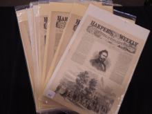 (16) 19th C .Harper's Weekly Covers & Pgs.