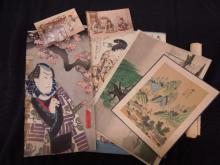 5 Japanese Woodblock Prints Early 20th c.