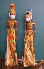Indonesian Carved & Painted Wood Puppets