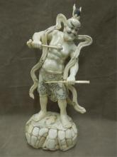 Chinese Bone Carved Warrior