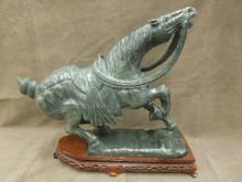 Chinese Serpintine Carved Stallion