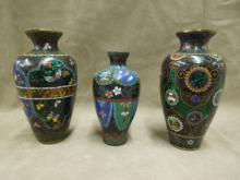 3 Chinese Cloisonne Vases