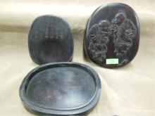 Chinese Ink Stone, Hardwood, Oval Container