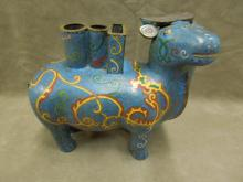 Chinese Cloisonne Sculptured Oxen