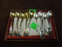 11 Sterling Demitasse Spoons