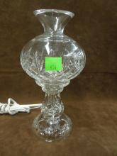 Waterford Crystal Lamp w/Glass Shade