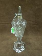 19th C Pressed Glass Whale Oil Lamp
