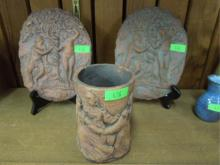 (3) Nadine Karnow Terracotta Pieces