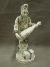 Chinese Bone Carved Workman