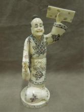 Chinese carved bone workman