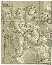 Andreani, Andrea: Madonna mit dem Kind und dem Johannesknaben