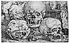 Beham, Barthel: Kind mit drei Totenköpfen