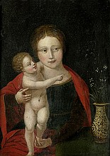 Antwerpener Schule: 16. Jh. Madonna mit Kind