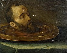 Italienisch: 17. Jh. Das Haupt Johannes d. T.