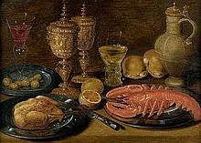 Beert d. Ä., Osias - Umkreis: 17. Jh. Stilleben mit Hummer, Deckelpokalen und Zitronen