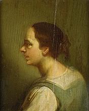 Italienisch: 18. Jh. Porträt einer Magd im Seitenprofil