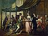 Venezianisch: um 1760. Marktszene mit Spezereienverkäuferin
