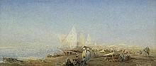 Régnault, Henri - zugeschrieben: Hafenszene am Nil mit Händlern