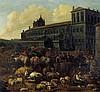 Niederländisch: um 1680. Viehmarkt auf dem Monte Cavallo in Rom